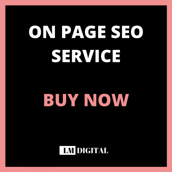 On Page Seo Service